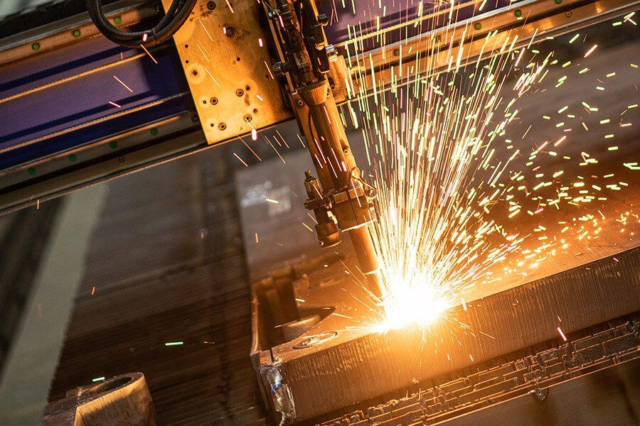 Zuschnitt von Stahl